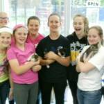 GIRL SCOUT TROOP #1190, CLAY SCHOOL DISTRICT – May 6, 2014  We want to give this group of young ladies a big thank you for coming out and helping with cleaning and spending time socializing with the cats.