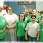Girl Scout Troop 2598 from Portsmouth City Schools came out to Sierra's Haven today to volunteer cleaning the cat rooms and socializing with our cats and kittens.  Pictured here are Makala, Raquel, Kaylee, Joanna, and Audrey with their troop leaders Erin, Anita, and Betty